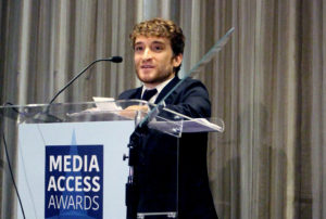 Nic Novicki at the 2017 Media Access Awards