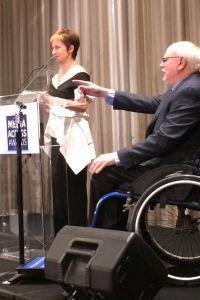 Deborah and Allen at the 2017 Media Access Awards