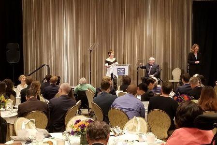 Deborah Calla and Allen Rucker at the 2017 Media Access Awards