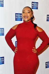 Treshelle Edmond at the 2017 Media Access Awards